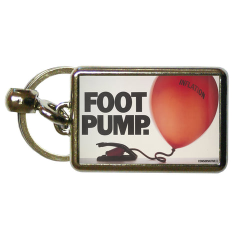 Foot pump Metal Keyring