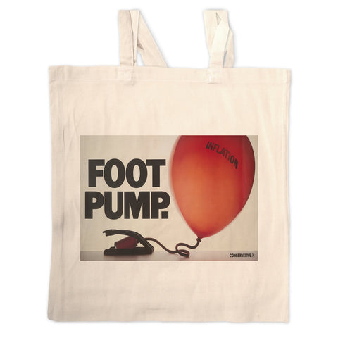 Foot pump Long Handled Tote Bag
