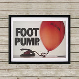 Foot pump Black Framed Print (Lifestyle)