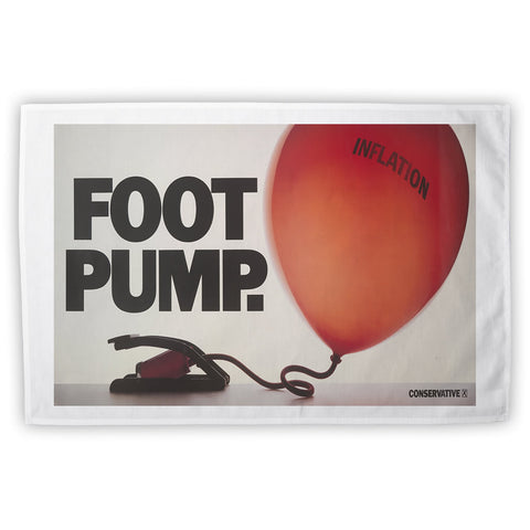 Foot pump Tea Towel