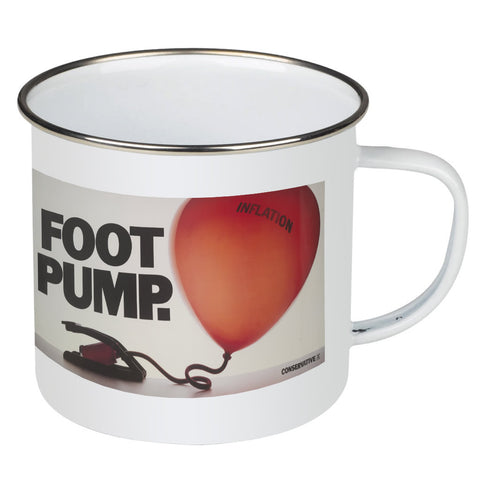 Foot pump Enamel Mug