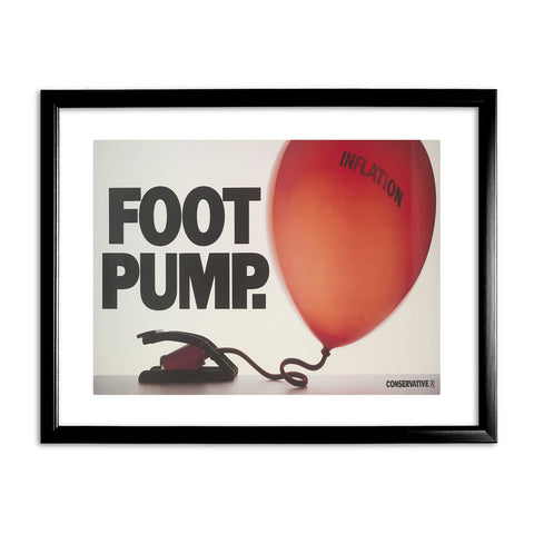 Foot pump Black Framed Print