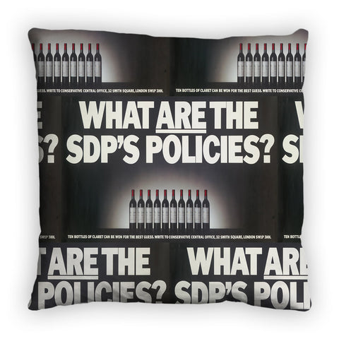 What are the SDP's policies? Feather Cushion