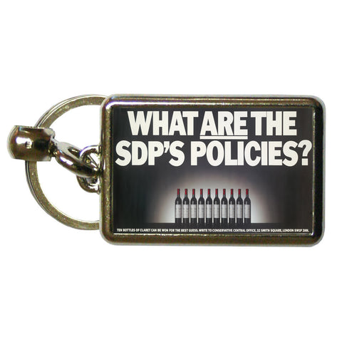 What are the SDP's policies? Metal Keyring