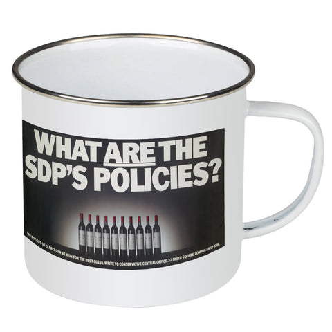 What are the SDP's policies? Enamel Mug