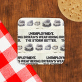 Unemployment Cork Coaster (Lifestyle)