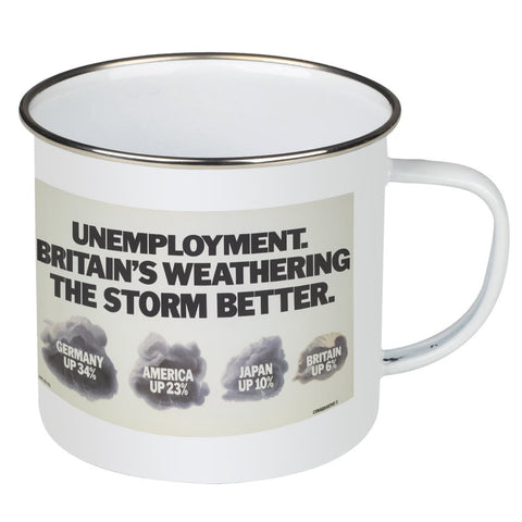 Unemployment Enamel Mug