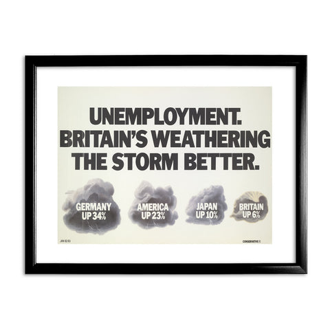 Unemployment Black Framed Print