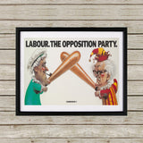 Labour Black Framed Print (Lifestyle)