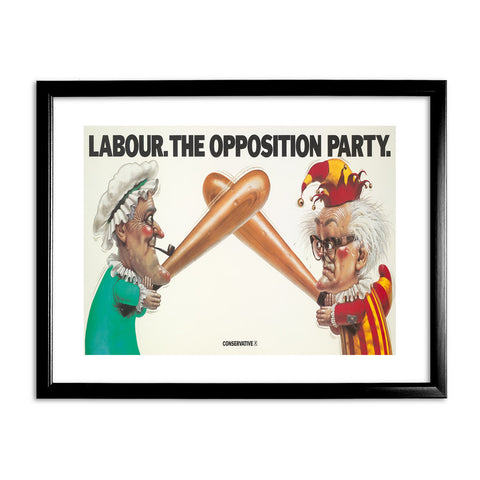 Labour Black Framed Print