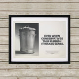 Even when Conservatives talk rubbish it makes sense Black Framed Print (Lifestyle)