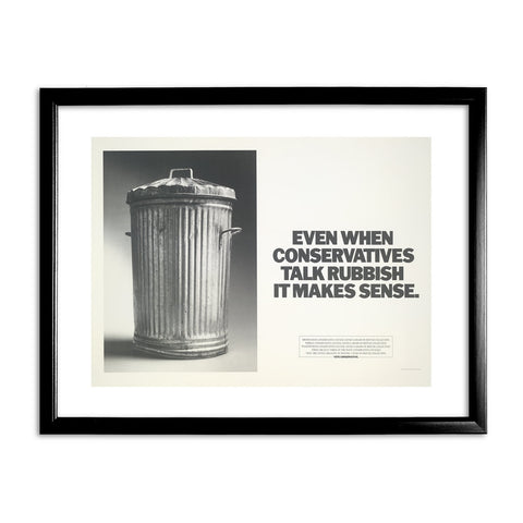 Even when Conservatives talk rubbish it makes sense Black Framed Print