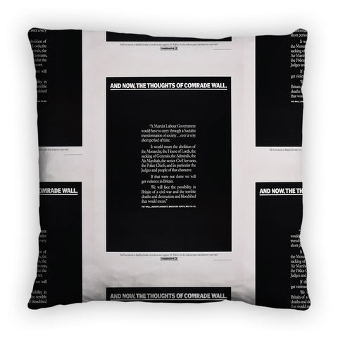 And, now, the thoughts of comrade wall Feather Cushion