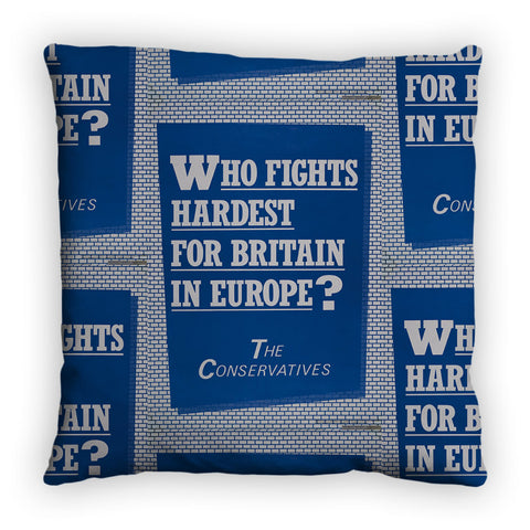 Who fights the hardest for Britain in Europe? Feather Cushion