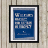Who fights the hardest for Britain in Europe? Black Framed Print (Lifestyle)