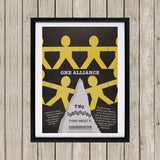 One Alliance Black Framed Print (Lifestyle)