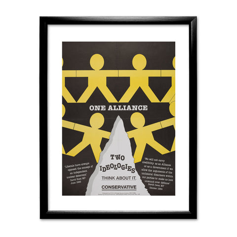 One Alliance Black Framed Print