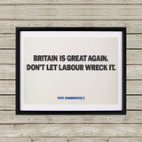 Britain is great again Black Framed Print (Lifestyle)