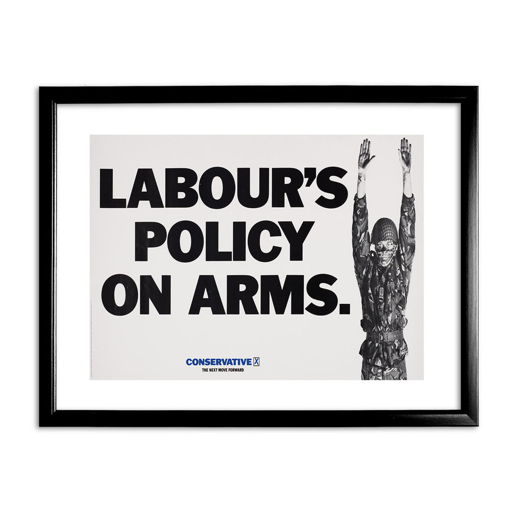 Labour's policy on arms Black Framed Print