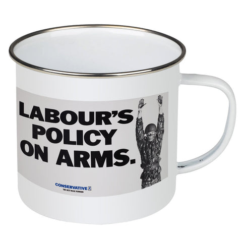 Labour's policy on arms Enamel Mug