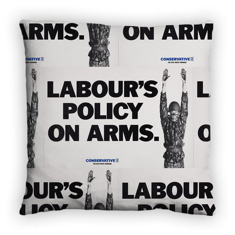 Labour's policy on arms Feather Cushion