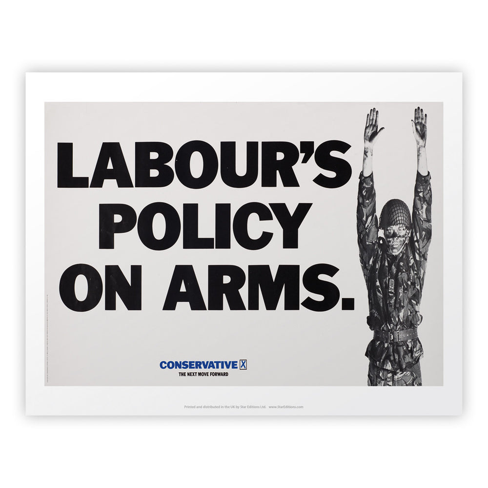 Labour's policy on arms Art Print
