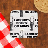 Labour's policy on arms Cork Coaster (Lifestyle)