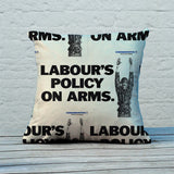 Labour's policy on arms Feather Cushion (Lifestyle)