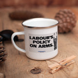 Labour's policy on arms Enamel Mug (Lifestyle)