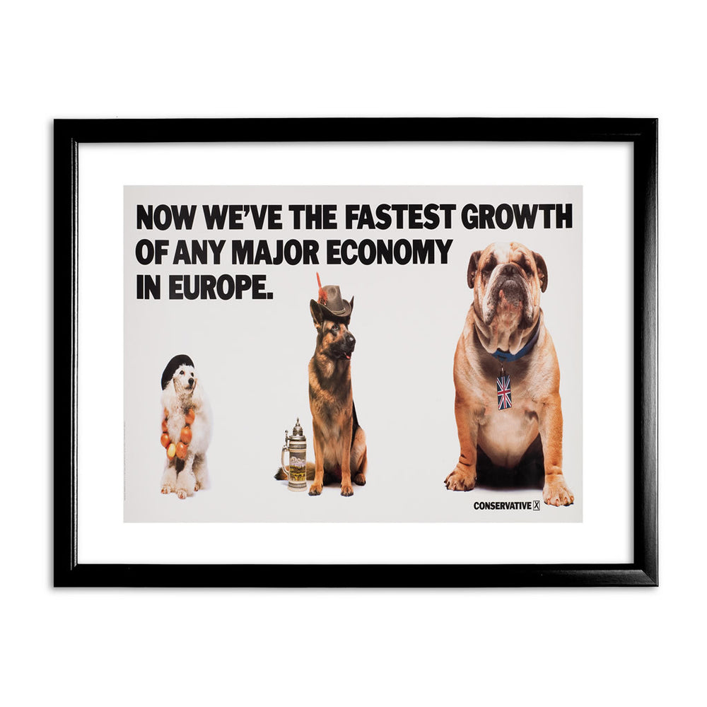 Now we're the fastest growth of any major economy in Europe Black Framed Print