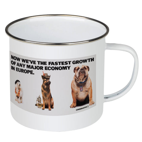Now we're the fastest growth of any major economy in Europe Enamel Mug
