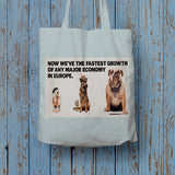 Now we're the fastest growth of any major economy in Europe Long Handled Tote Bag (Lifestyle)