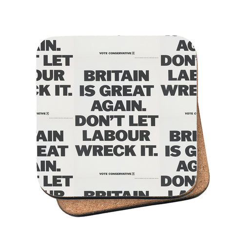 Britain is great again Cork Coaster