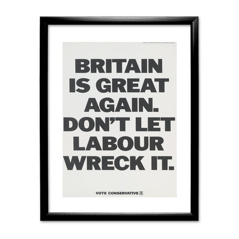Britain is great again Black Framed Print
