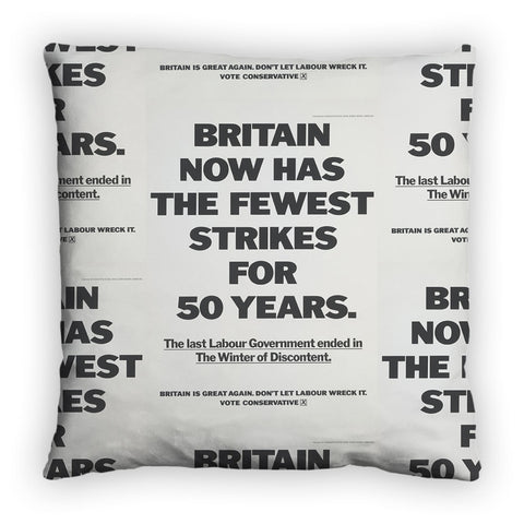 Britain now has the fewest strikes for 50 years Feather Cushion