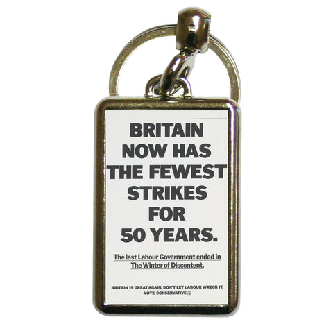 Britain now has the fewest strikes for 50 years Metal Keyring