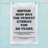 Britain now has the fewest strikes for 50 years Tea Towel (Lifestyle)