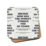 Britain now has the fewest strikes for 50 years Cork Coaster