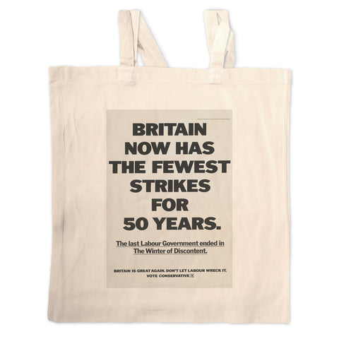 Britain now has the fewest strikes for 50 years Long Handled Tote Bag