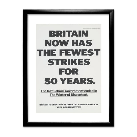 Britain now has the fewest strikes for 50 years Black Framed Print