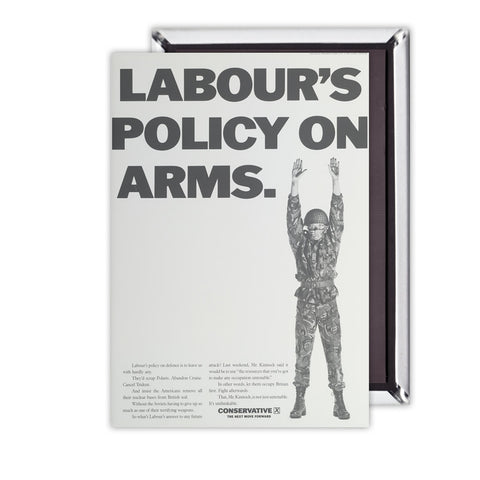 Labour's policy on arms (Camouflaged) Magnet
