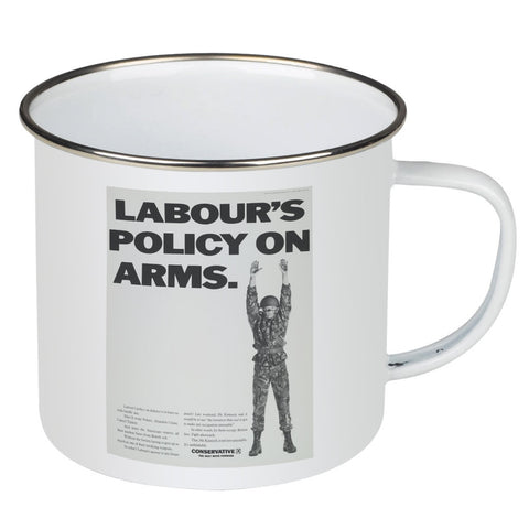 Labour's policy on arms (Camouflaged) Enamel Mug