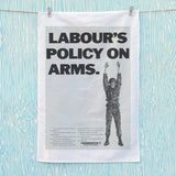Labour's policy on arms (Camouflaged) Tea Towel (Lifestyle)