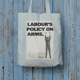 Labour's policy on arms (Camouflaged) Long Handled Tote Bag (Lifestyle)