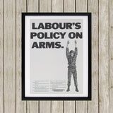 Labour's policy on arms (Camouflaged) Black Framed Print (Lifestyle)