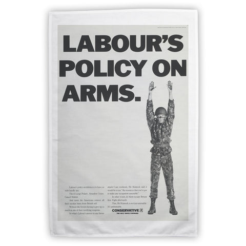Labour's policy on arms (Camouflaged) Tea Towel