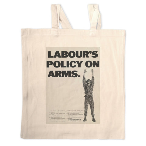 Labour's policy on arms (Camouflaged) Long Handled Tote Bag