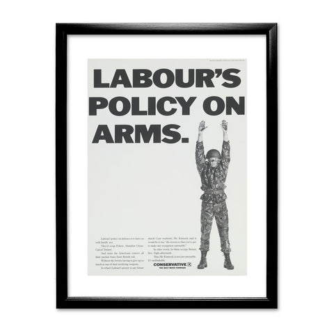 Labour's policy on arms (Camouflaged) Black Framed Print