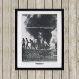 """Secondary picketing... is a right that should be enjoyed."" Black Framed Print (Lifestyle)"