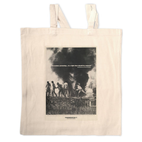 """Secondary picketing... is a right that should be enjoyed."" Long Handled Tote Bag"